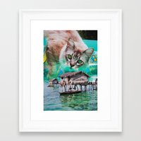 meow Framed Art Prints featuring Meow by John Turck