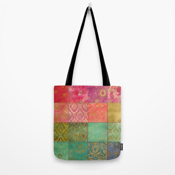 Royal Patchwork Tote Bag
