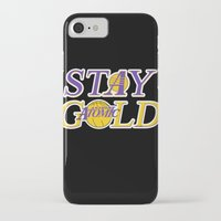 lakers iPhone & iPod Cases featuring Stay Gold by Ant Atomic