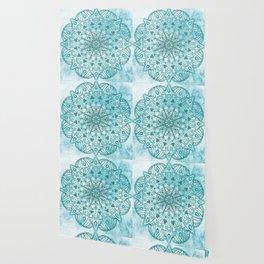 Blue mandala poster Wallpaper