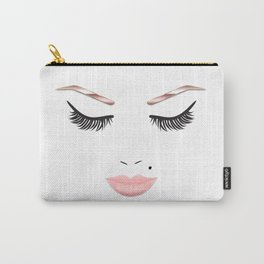 Rose Gold Beauty Face Carry-All Pouch