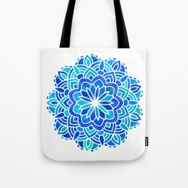 Mandala Iridescent Blue Green Tote Bag