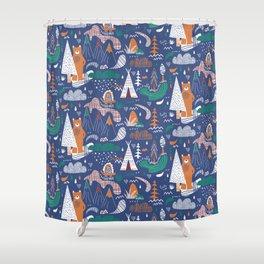 Bear camp Shower Curtain