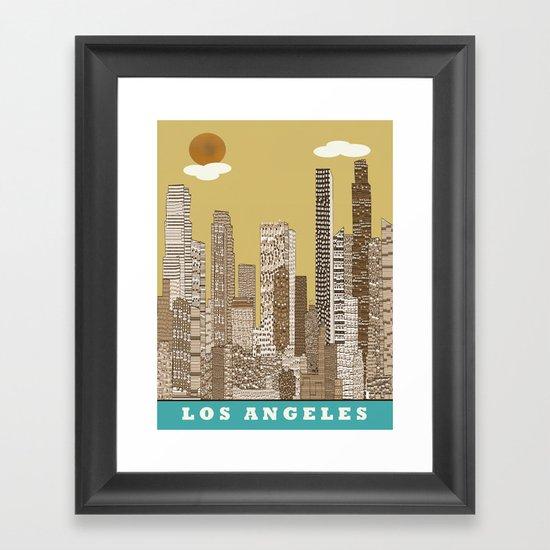 los angeles city   (vintage) Framed Art Print
