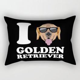 I Love Golden Retriever modern v2 Rectangular Pillow
