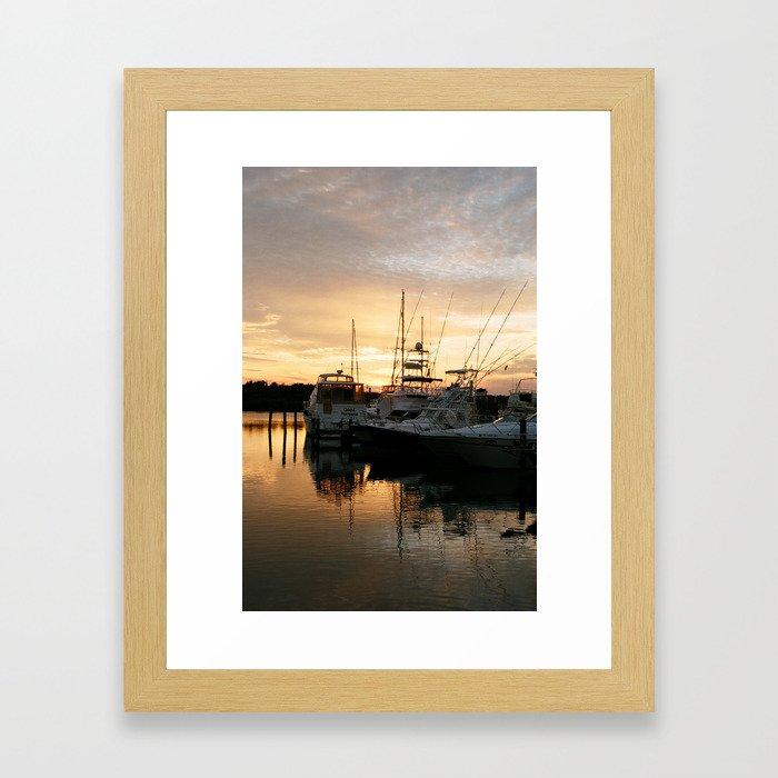 Smooth Sailin' Framed Art Print
