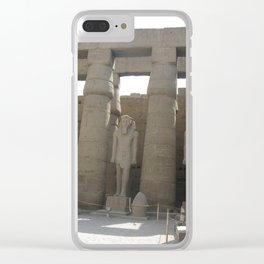 Temple of Luxor, no. 4 Clear iPhone Case