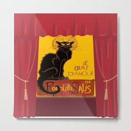Le Chat Noir DAmour Theatre Stage Metal Print