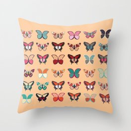 Butterflies collection 02 Throw Pillow