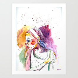 Over My Shoulder #2 Art Print