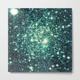 Emerald City Galaxy Sparkle Metal Print