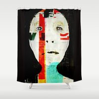 levi Shower Curtains featuring « résistance » by linda vachon