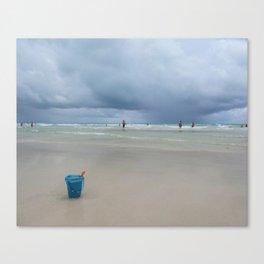 Blue Bucket Canvas Print