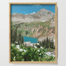 The Blue Lakes of Colorado Serving Tray