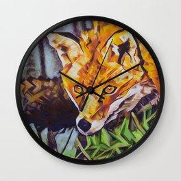 The Surreptitious Stalker (Fox) Wall Clock