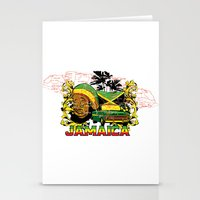 jamaica Stationery Cards featuring Jamaica by Tshirt-Factory