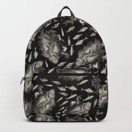 Wierd Fish and Unicorns Unite Backpack