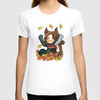 bucky T-shirts featuring fall - bucky by noCek