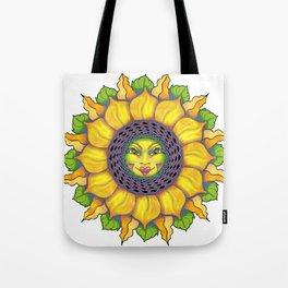 Sunflower Sunshine Girl by Amanda Martinson Tote Bag