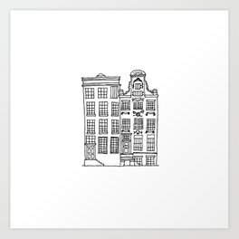 canal houses two Art Print
