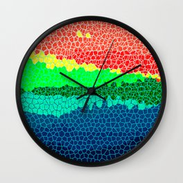Sunset on Tropical Island Wall Clock