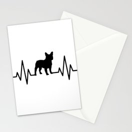 Love French bulldog, frenchies, frenchy Stationery Cards