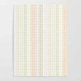 Knitted pattern in pastel colours.1 Poster