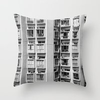 urban Throw Pillows featuring Urban  by Elsa Harley