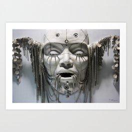 White face - Sculpture Art Print