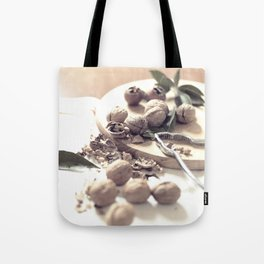 Food porn, still life, kitchen wall art, living room, home decor, nuts Tote Bag