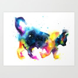 Cat galaxy Art Print