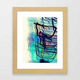 Teal Destination Framed Art Print