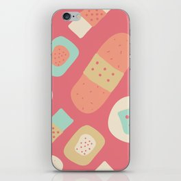 Cute patches pattern iPhone Skin