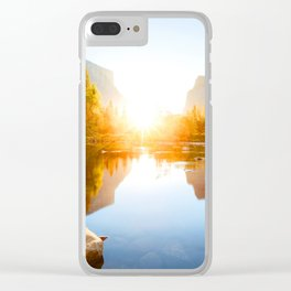 Middle of Nature Clear iPhone Case