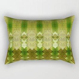 """""""Green diamonds pattern"""" Rectangular Pillow"""