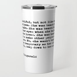 She was beautiful Travel Mug