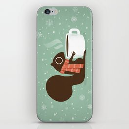 Squirrel Coffee Lover Holiday iPhone Skin