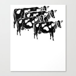 Funny Heard That Cow Farming Farmer Design Canvas Print