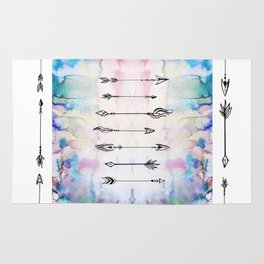 7 Arrows Watercolor and ink Rug