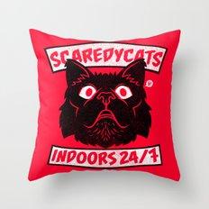 ScaredyCats Throw Pillow