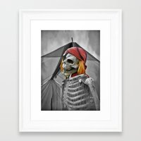 scary Framed Art Prints featuring scary by mayrarosito