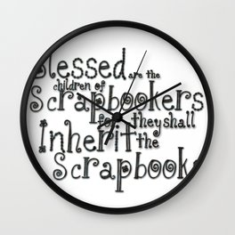 Beatitude Wall Clock