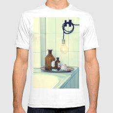 Bathroom set  MEDIUM White Mens Fitted Tee
