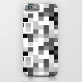 Grayscale Squares iPhone Case