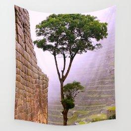 Misty Macchu Picchu Wall Tapestry