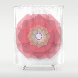 Pink Floral Meditation Shower Curtain