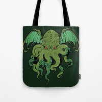 cthulhu Tote Bags featuring Cthulhu by missmonster