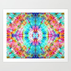 Rainbow Sunburst Art Print