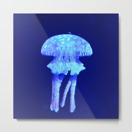 Blue jellyfish Metal Print