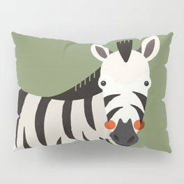 Zebra, Animal Portrait Pillow Sham